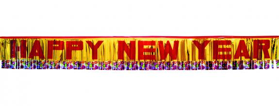 SH Girlande Happy New Year 1,8m zur Dekoration für Silvester Neujahr