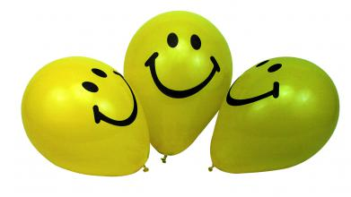Ballon Smiley gelb
